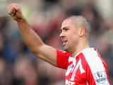Jonathan Walters of Stoke City celebrates scoring the opening goal during the Barclays Premier League match against QPR on January 31, 2015