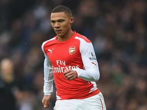 Kieran Gibbs of Arsenal in action during the Barclays Premier League match between West bromwich Albion and Arsenal at The Hawthorns on November 29, 2014