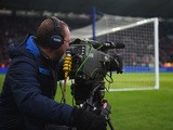 A TV cameraman films the action during the Barclays Premier League match between Leicester City and Crystal Palace at the King Power Stadium on February 7, 2015