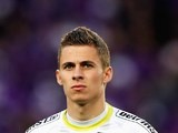 Thorgan Hazard in action for Zulte on April 15, 2014