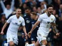 Alex Mowatt of Leeds United celebrates his goal during the Sky Bet Championship match between Leeds United and Millwall at Elland Road on February 14, 2015
