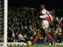 Patrick Vieira of Arsenal scores a simple tap in during the Barclays Premiership match between Arsenal and Crystal Palace at Highbury on February 14, 2005
