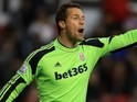Thomas Sorensen for Stoke on January 1, 2014