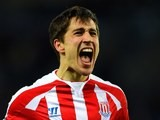 Bojan Krkic for Stoke on January 17, 2015