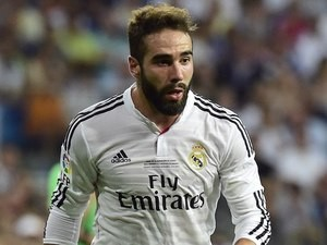 Dani Carvajal for Real Madrid on August 19, 2014