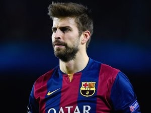 Gerard Pique for Barcelona on December 10, 2014
