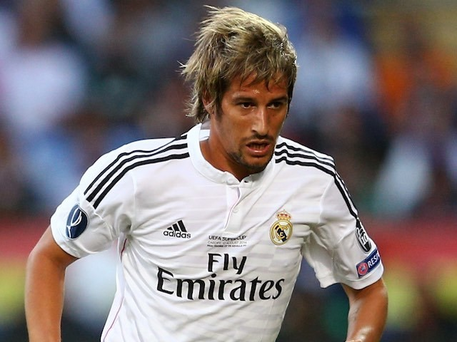 Fabio Coentrao for Real Madrid on August 12, 2014