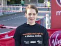 Kelly Sotherton poses for photgraphs ahead of the Virgin London Marathon on April 21, 2013