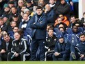 Spurs boss Mauricio Pochettino poses on the touchline on February 22, 2015