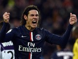 Paris Saint-Germain's Uruguayan forward Edinson Cavani reacts after missing a shot during the French L1 football match between Paris Saint-Germain (PSG) and Toulouse (TFC) on February 21, 2015