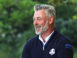 Darren Clarke reacts after being named the captain of Europe's Ryder Cup team on February 18, 2015