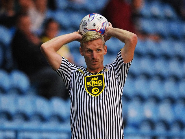 Gary Teale of St Mirren in action during the pre season friendly match between Carlisle United and St Mirren at Brunton Park on August 01, 2014