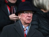 Sir Bobby Charlton looks on during the Barclays Premier League match between Manchester United and Sunderland at Old Trafford on February 28, 2015