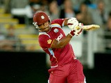 Johnson Charles of the West Indies bats during the first T20 between New Zealand and the West Indies at Eden Park on January 11, 2014