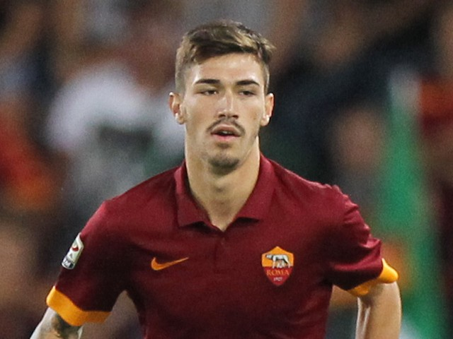 Alessio Romagnoli of AS Roma in action during the pre-season friendly match between AS Roma and Fenerbache SK at Stadio Olimpico on August 19, 2014