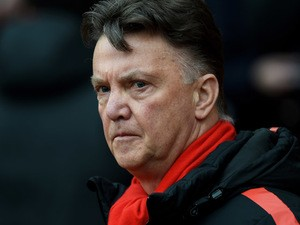 Louis van Gaal the manager of Manchester United looks on during the Barclays Premier League match between Manchester United and Tottenham Hotspur at Old Trafford on March 15, 2015