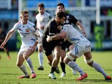 Catalin Fercu of Saracens charges upfield during the LV= Cup Final match between Saracens and Exeter Chiefs at Franklin's Gardens on March 22, 2015
