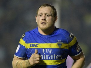 Ben Westwood of Warrington Wolves during the First Utility Super League match between Warrington Wolves and Leeds Rhinos at The Halliwell Jones Stadium on March 13, 2015