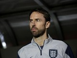 Head coach of England Gareth Southgate is seen before the international friendly match between U21 Czech Republic and U21 England at Letna Stadium on March 27, 2015