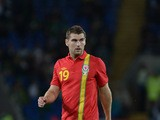 Sam Vokes of Wales in action during the International Friendly match between Wales v Ireland at the Cardiff City Stadium on August 14, 2013