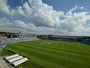 A general view of Headingley cricket ground during day one of the LV County Championship division One match between Yorkshire and Warwickshire at Headingley on August 02, 2013