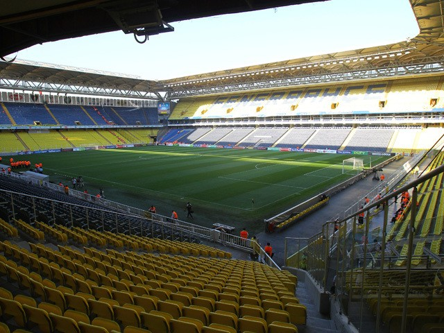 General view of Sukru Saracoglu, home of Fenerbahce SK taken during the UEFA Europa League group stage match between Fenerbahce SK and Olympique de Marseille on September 20, 2012