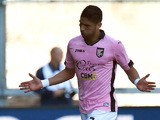 Achraf Lazaar of Palermo celebrates after scoring the opening goal during the Serie A match between Udinese Calcio and US Citta di Palermo at Stadio Friuli on April 12, 2015
