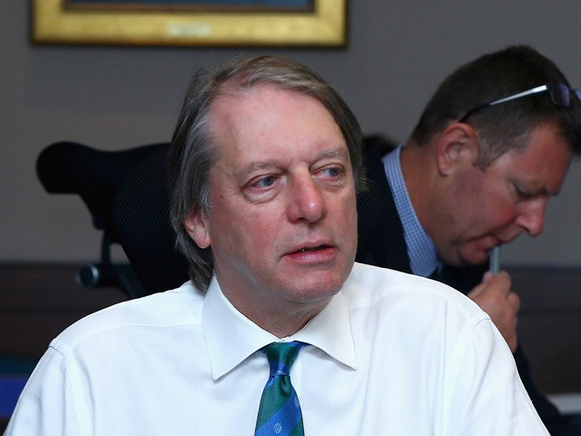 Giles Clarke, ECB Chairman attends the ICC Board Meeting at the ICC headquarters on November 10, 2014
