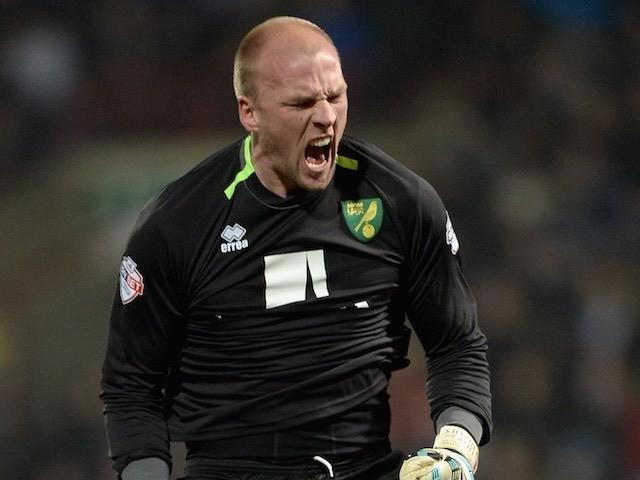 John Ruddy for Norwich City on March 1, 2015