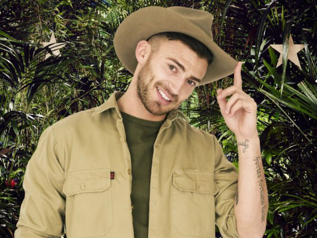 Jake Quickenden in a promo still for ITV's I'm A Celebrity Get Me Out Of Here in 2014