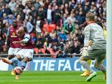 Aston Villa's English midfiel