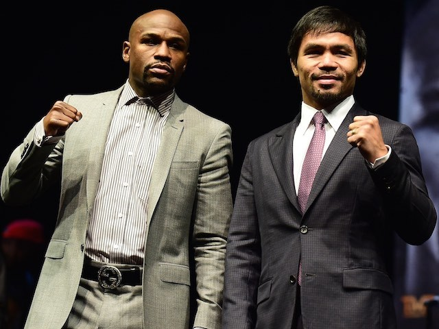 Floyd Mayweather and Manny Pacquiao announce their bout in March 2015