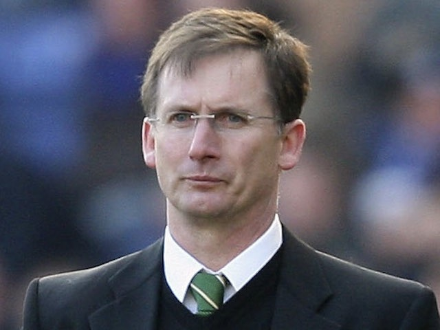 Glenn Roeder, manager of Norwich, and Ian Holloway, manager of Leicester look on during the Coca-Cola Championship match between Leicester City and Norwich City at the Walkers Stadium on February 16, 2008