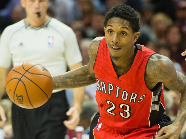 Lou Williams #23 of the Toronto Raptors drives to the lane during the first half against the Cleveland Cavaliers at Quicken Loans Arena on November 22, 2014