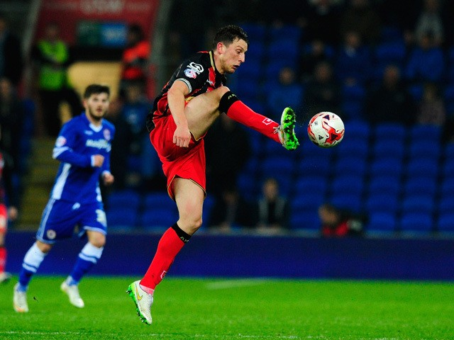 Tommy Elphick of Bournemouth in action during the Sky Bet Championship match between Cardiff City and AFC Bournemouth at Cardiff City Stadium on March 17, 2015