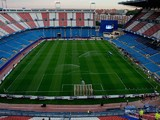 View of the pitch, prior to start the UEFA Champions League group A match between Club Atletico de Madrid and Malmo FF at Vicente Calderon stadium on October 22, 2014