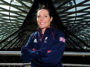 Helena Lucas of ParalympicsGB poses at the Cutty sark as she is the first athlete named by ParalympicsGB for their Rio 2016 team at the Cutty Sark, Greenwich, London on April 29, 2015