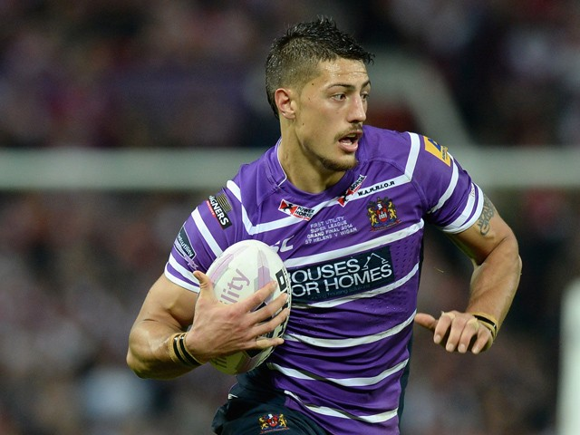 Anthony Gelling of Wigan Warriors during the First Utility Super League Grand Final between St Helens and Wigan Warriors at Old Trafford on October 11, 2014
