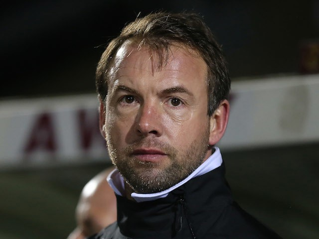 Bristol Rovers coach Marcus Stewart looks on during the npower League Two match between Northampton Town and Bristol Rovers at Sixfields Stadium on February 26, 2013