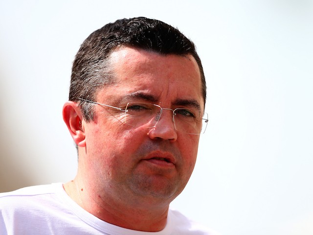 McLaren Racing Director Eric Boullier looks on in the paddock during day one of Formula One testing at Yas Marina Circuit on November 25, 2014
