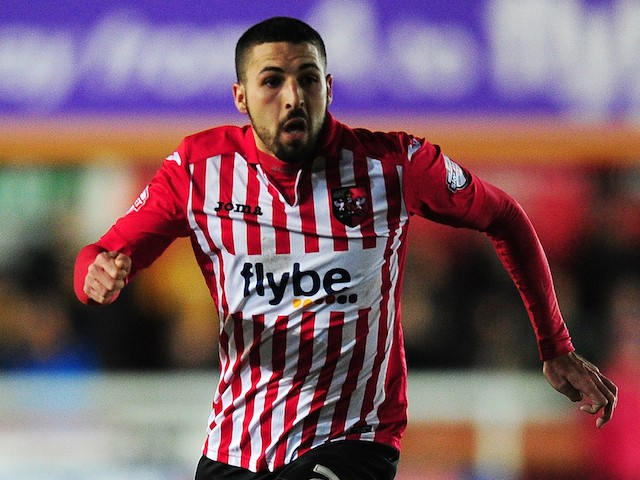 Liam Sercombe of Exeter City in action during the Sky Bet League Two match between Exeter City and Cambridge United at St. James Park on February 10, 2015