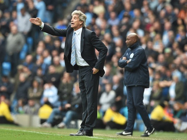 Man City boss Manuel Pellegrini on May 10, 2015
