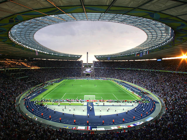 General view of the Olympiastadion in Berlin during the World Cup 2006 final football game Italy vs.France, 09 July 2006