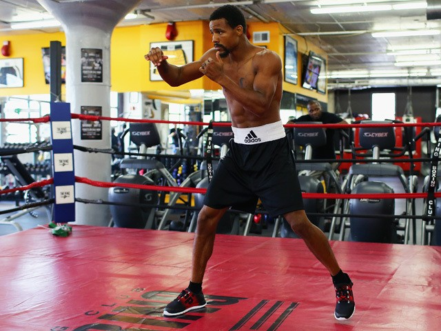Andre Dirrell works out at The Ring Boxing Club in preparation for his super middleweight bout against James DeGale on May 20, 2015