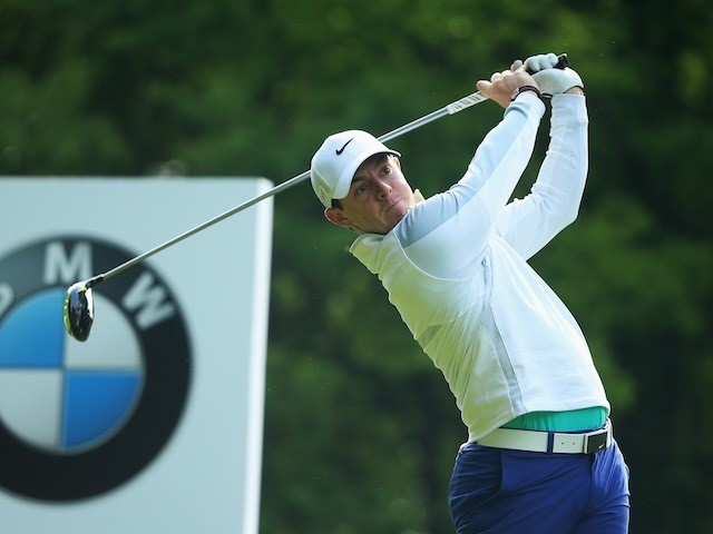Rory McIlroy in action on day one of the BMW PGA Championship on May 21, 2015