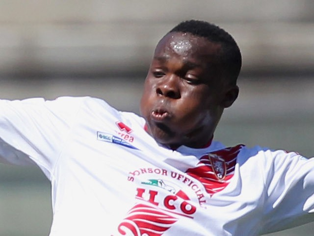 Souleymane Coulibaly of Grosseto during the Serie B match between Reggina Calcio and US Grosseto at Stadio Oreste Granillo on May 11, 2013