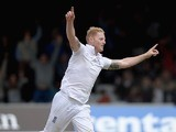 Ben 'Mr' Stokes celebrates dismissing New Zealand's Brendon McCullum during day five of the First Test on May 25, 2015