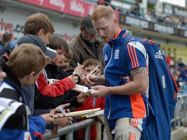 England's Ben Stokes arrives for day one of the Second Test with New Zealand on May 29, 2015