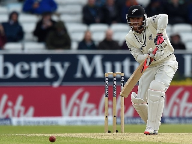 New Zealand's Brendon McCullum bats on the third day of the second cricket test match between England and New Zealand at Headingley in Leeds, northern England, on May 31, 2015
