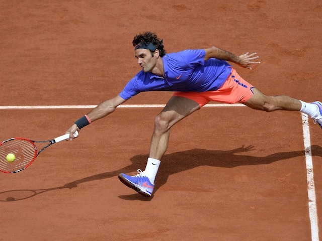 Roger Federer in action on day six of the French Open on May 29, 2015
